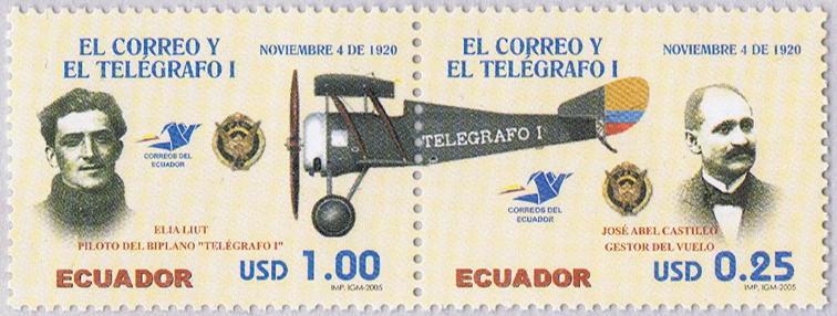 Ecuador 2005 Elia Luit Telegrafi I stamp